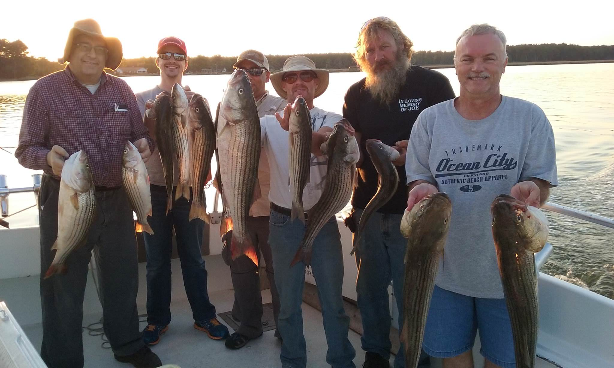 Chesapeake Bay Fishing For Rockfish!