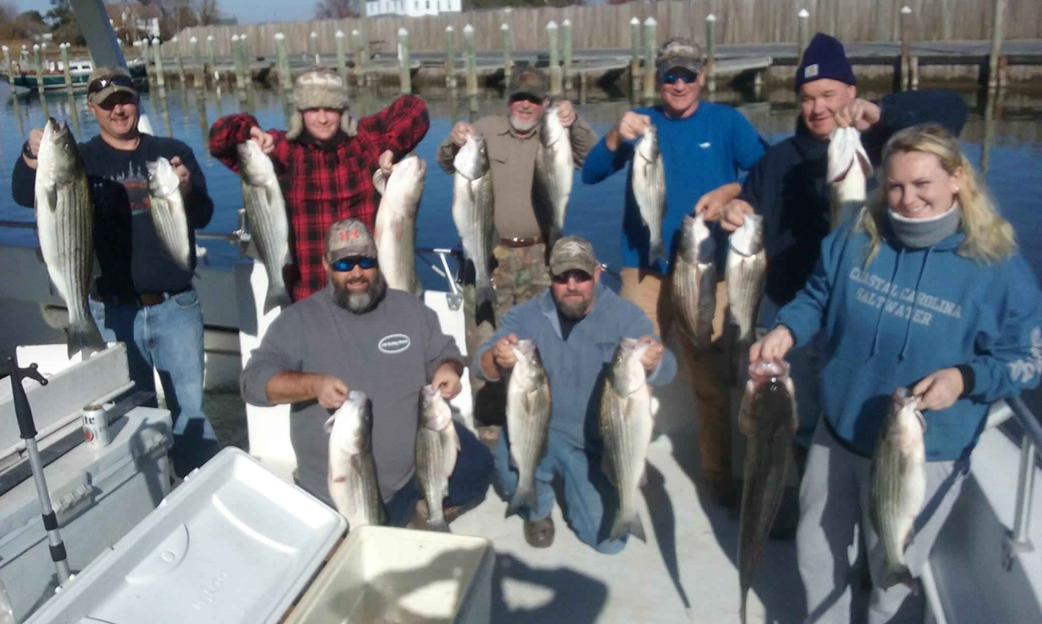 Happy Fishermen On The Chesapeake Bay!