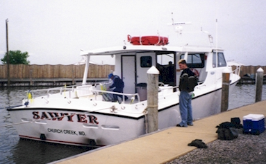 Chesapeake Bay Fishing Charter Boat With Plenty Of Room In The Back